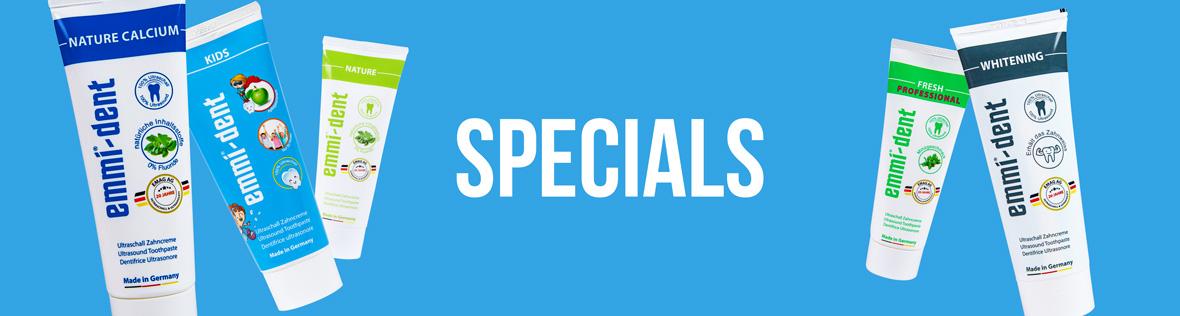 Ultraschallzahncreme Specials